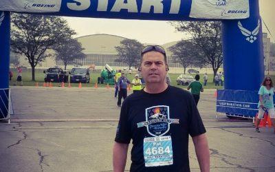 USAF half Marathon-Dayton, OH. Thank you Pat!