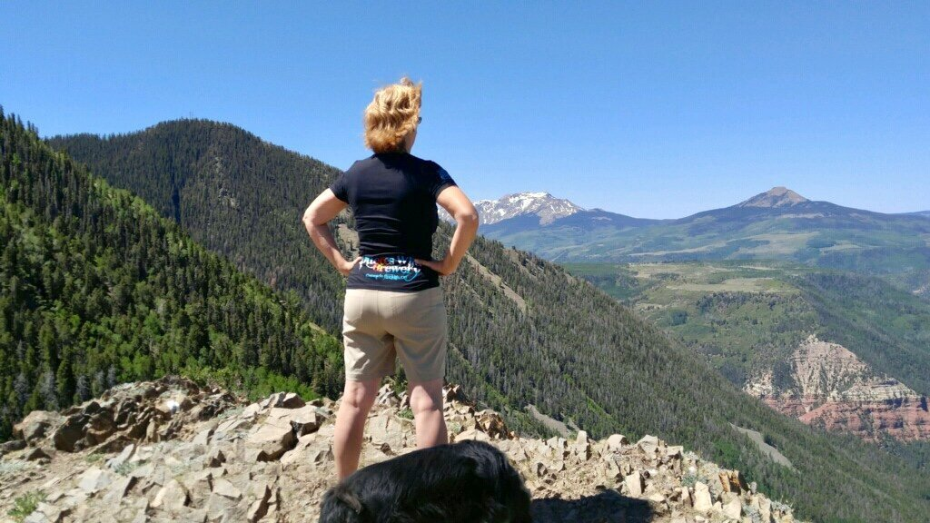 Northern Slope of Mt. Sneffels….looking North. Thank you Kristin!
